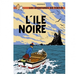 Carte postale album de Tintin: L'île noire 30075 (15x10cm)