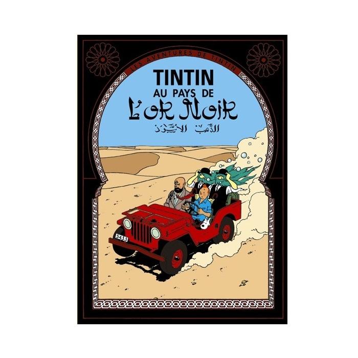 Postal del álbum de Tintín en el país del oro negro 30083 (15x10cm)