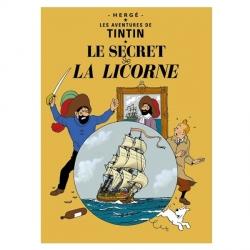 Carte postale album de Tintin: Le secret de la Licorne 30079 (15x10cm)