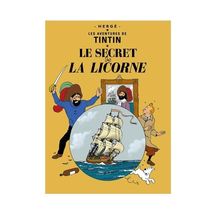 Postal del álbum de Tintín: El secreto del Unicornio 30079 (15x10cm)