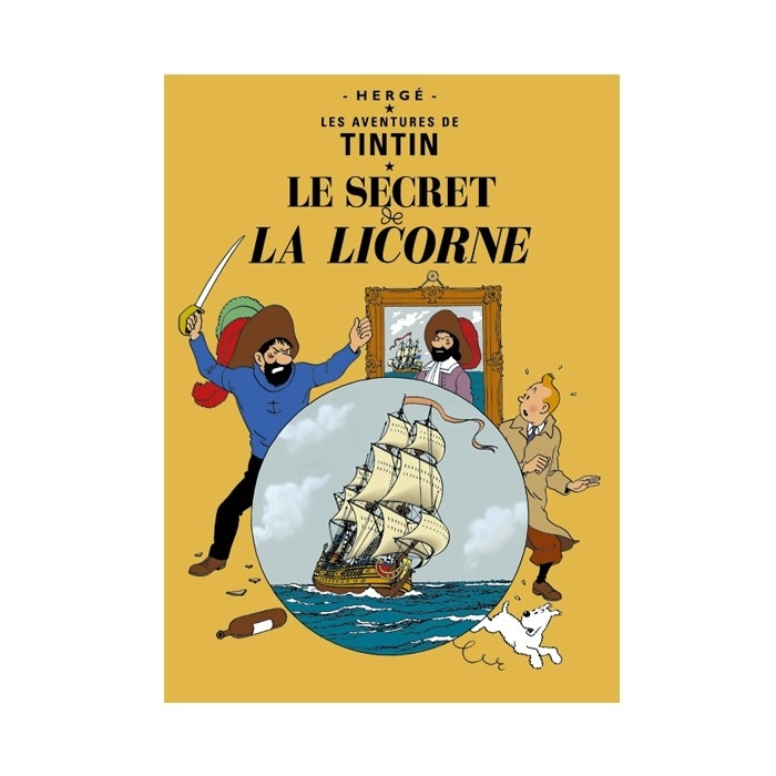 Postcard Tintin Album: The Secret of the Unicorn 30079 (15x10cm)