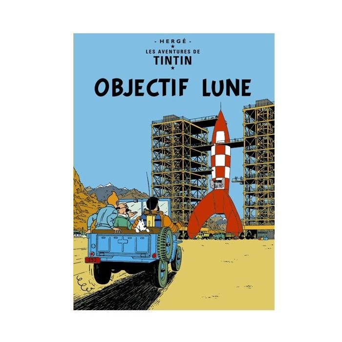 Postal del álbum de Tintín: Objetivo: la Luna 30084 (15x10cm)