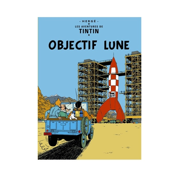 Postcard Tintin Album: Destination Moon 30084 (15x10cm)