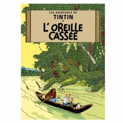 Postcard Tintin Album: The Broken Ear 30074 (10x15cm)