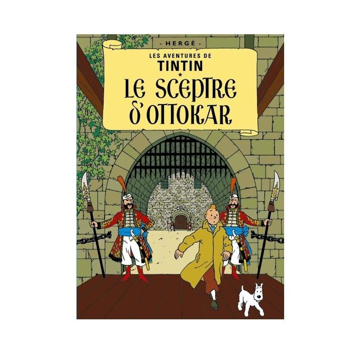Postal del álbum de Tintín: El cetro de Ottokar 30076 (15x10cm)