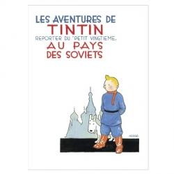Postcard Tintin Album: Tintin in the Land of the Soviets 30092 (15x10cm)