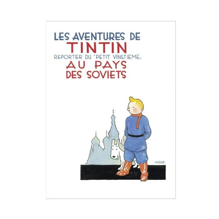 Postal del álbum de Tintín en el país de los Soviets 30092 (15x10cm)