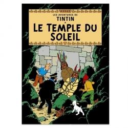 Carte postale album de Tintin: Le temple du soleil 30082 (15x10cm)