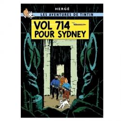 Carte postale album de Tintin: Vol 714 pour Sydney 30090 (15x10cm)