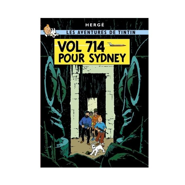 Postal del álbum de Tintín: Vuelo 714 para Sídney 30090 (15x10cm)