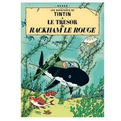 Carte postale album de Tintin: Le trésor de Rackham le Rouge 30080 (15x10cm)