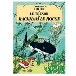 Postcard Tintin Album: Red Rackham's Treasure 30080 (15x10cm)