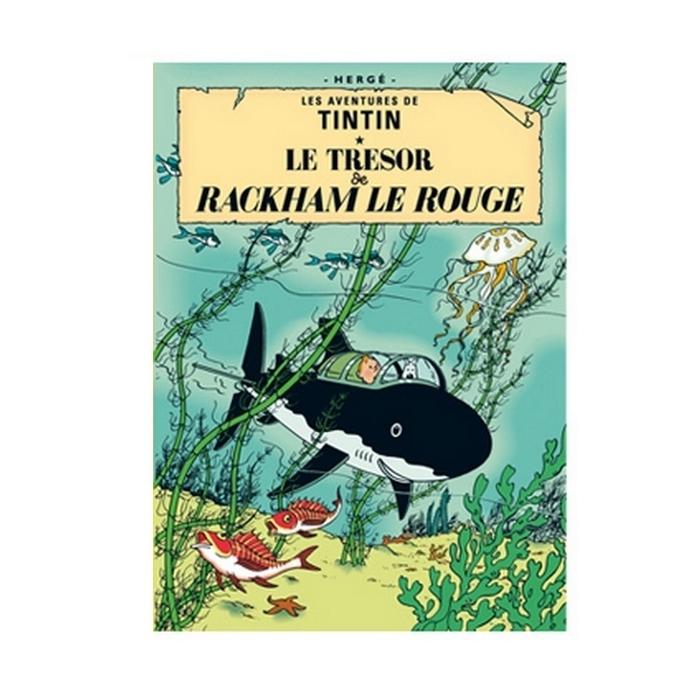 Postcard Tintin Album: Red Rackham's Treasure 30080 (15x10cm)