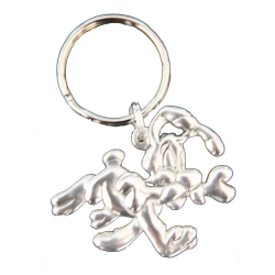 Keychain figure Astérix Les étains de Virginie Dogmatix running with bone (2015)