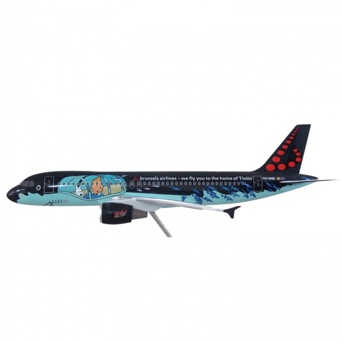The plane Airbus Air Brussels A320 Rackham Tintin 1/25 Moulinsart 29665 (2016)