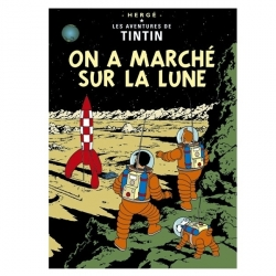 Carte postale album de Tintin: On a marché sur la Lune 30085 (15x10cm)