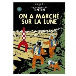 Postal del álbum de Tintín: Aterrizaje en la luna 30085 (15x10cm)