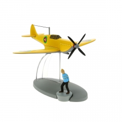Figurine de collection Tintin L'avion jaune de l'Emir Nº28 29549 (2015)