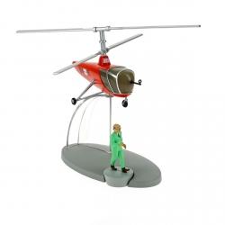 Figura de colección Tintín El helicóptero rojo Sbrodj BH15 Nº30 29550 (2015)
