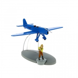 Figurine de collection Tintin L'avion de course bleu Nº31 29551 (2015)