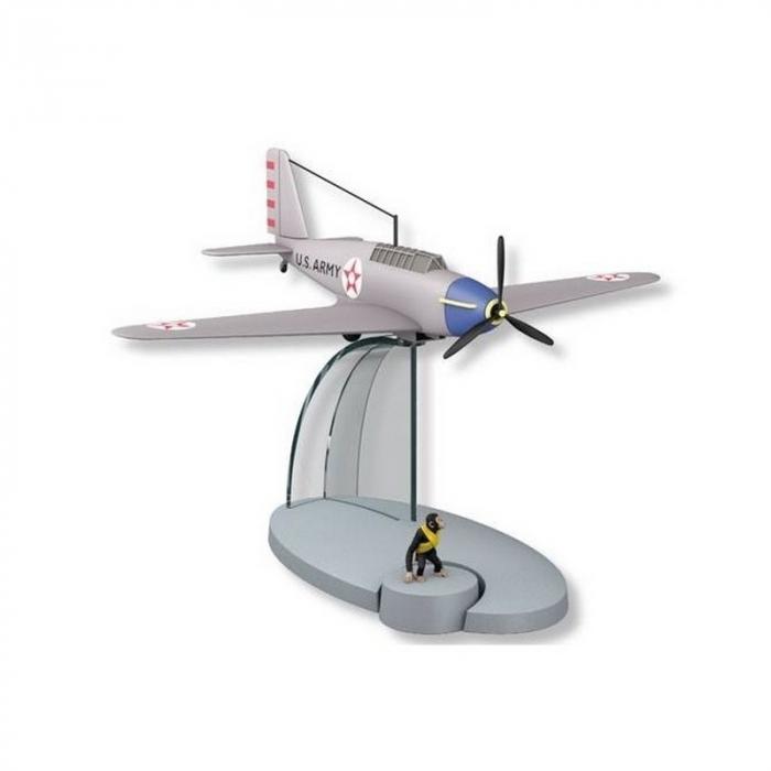 Figura de colección Tintín El avión Americano  Jo y Zette 29555 (2016)