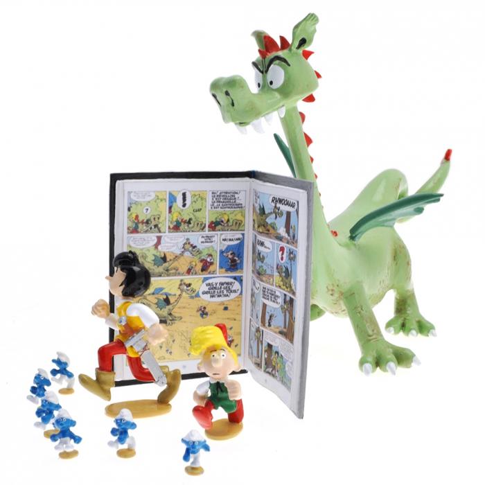 Figurine Pixi Johan et Pirlouit avec les Schtroumpfs Le Pays maudit 5671 (2015)
