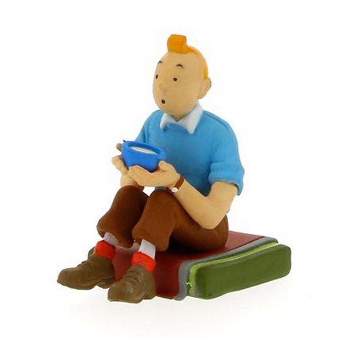 Collection figurine Tintin sitting 5,5cm Moulinsart 42444 (2015)