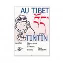 Cartel de la exposición de Bruselas de Tintín Au Tibet 1994 24023 (30x40cm)
