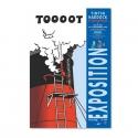 Poster Tintin, Haddock et les bateaux Saint Nazaire exhibition 24072 (40x60cm)