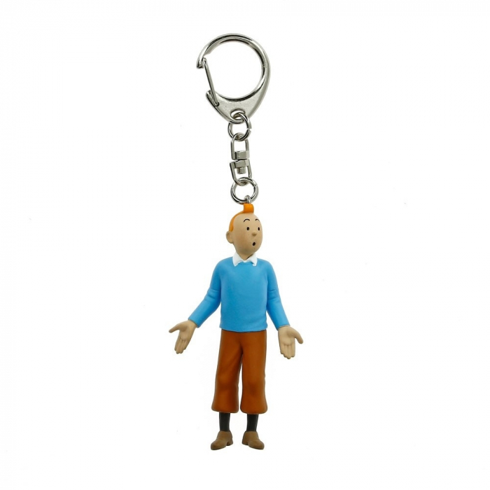Keyring chain figurine Tintin wearing blue sweater 5,5cm Moulinsart 42498 (2012)