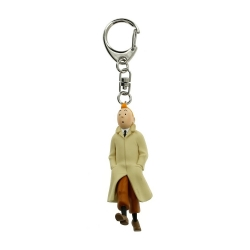 Keyring chain figurine Moulinsart Tintin walking coat 5,5cm 42497 (2012)
