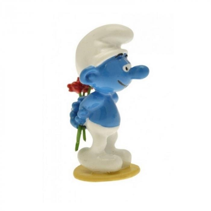 Figura de colección Pixi El Pitufo con las flores 6433 (2012)