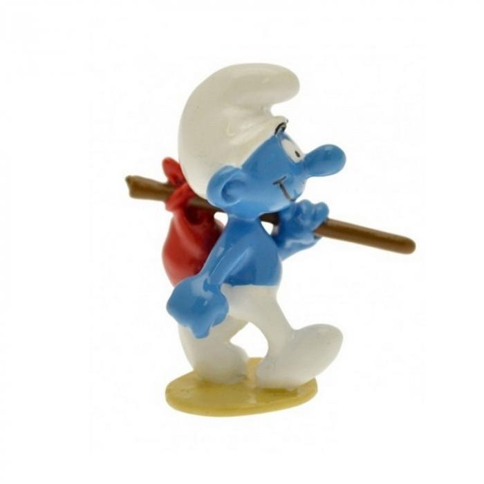 Figura de colección Pixi El Pitufo con su pequeña mochila 6434 (2012)