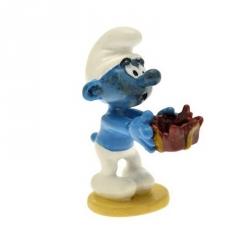 Figurine de collection Pixi Le Schtroumpf au cadeau piègé 6435 (2012)