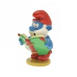 Figurine de collection Pixi Le Grand schtroumpf lisant un livre 6438 (2012)