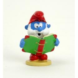 Collectible Figure Pixi Papa Smurf reading a book 6438 (2012)
