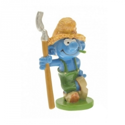 Figurine de collection Pixi Le Schtroumpf fermier 6439 (2012)