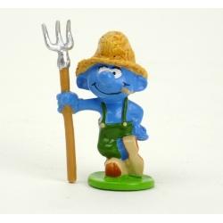 Figurine de collection Pixi Le Schtroumpf fermier 6439 (2012)