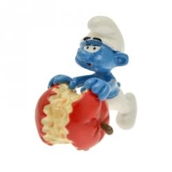 Figura de colección Pixi El Pitufo comiendo una manzana 6441 (2012)