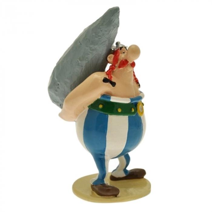 Figura de colección Pixi Astérix Obélix sosteniendo un menhir 6520 (2012)