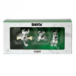 Set de 3 figurines de collection Astérix et Obélix Attakus Idéfix IDBOX01 (2016)