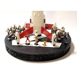 Collectible scene figures Pixi Spirou and Fantasio Z comme Zorglub 2800 (2015)