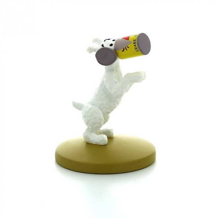 Collectible figurine Tintin Snowy with the crab tin Moulinsart 42199 (2016)