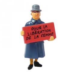 Figure Tintin Irma Pour la libération de la femme Carte de voeux 1972 (46995)