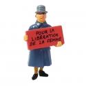 Figurine Tintin Irma Pour la libération de la femme Carte de voeux 1972 (46995)