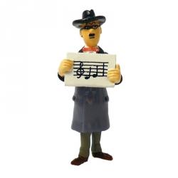 Figurine Tintin Wagner Notes de musique frais Carte de voeux 1972 (46997)