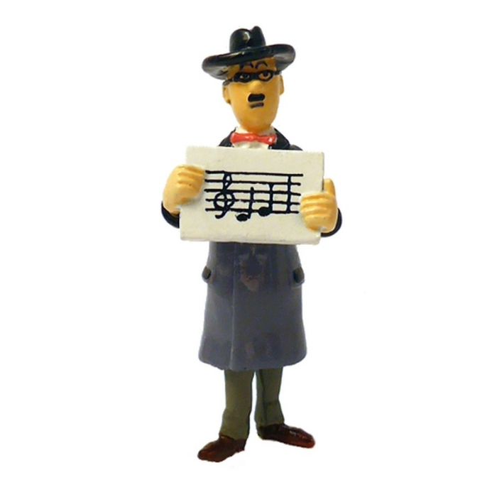 Figura Tintín Wagner Notas musicales Carte de voeux 1972 (46997)