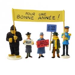 Set Figures Tintin Moulinsart Serie 4 Carte de voeux 1972 (2016)