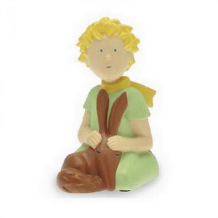 Figurine de collection Plastoy Le Petit Prince à genoux et renard 00111 (2016)