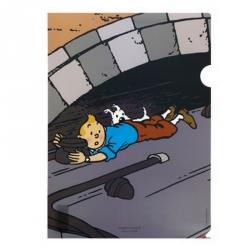Pochette plastique A4 Les Aventures de Tintin Le Train de L'Île Noire (15168)